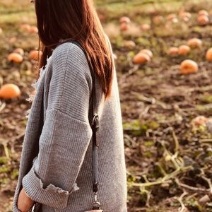 Sweaters - Distressed cardigan